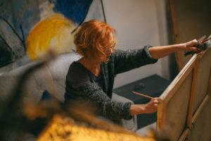peindre des portraits sur toile